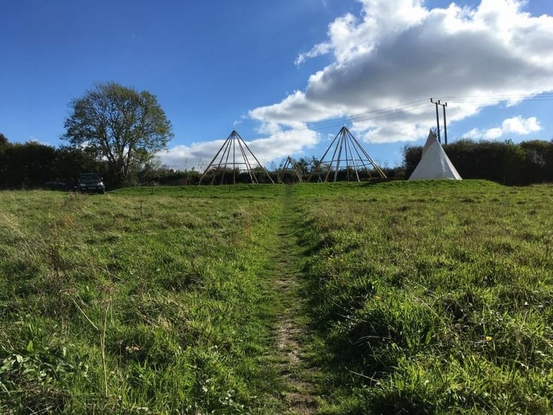 Down comes the Tipi- it'll be up again next Spring!
